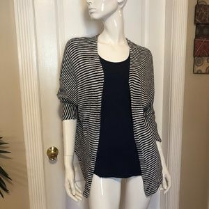 Sundry blue and white striped cardigan sweater